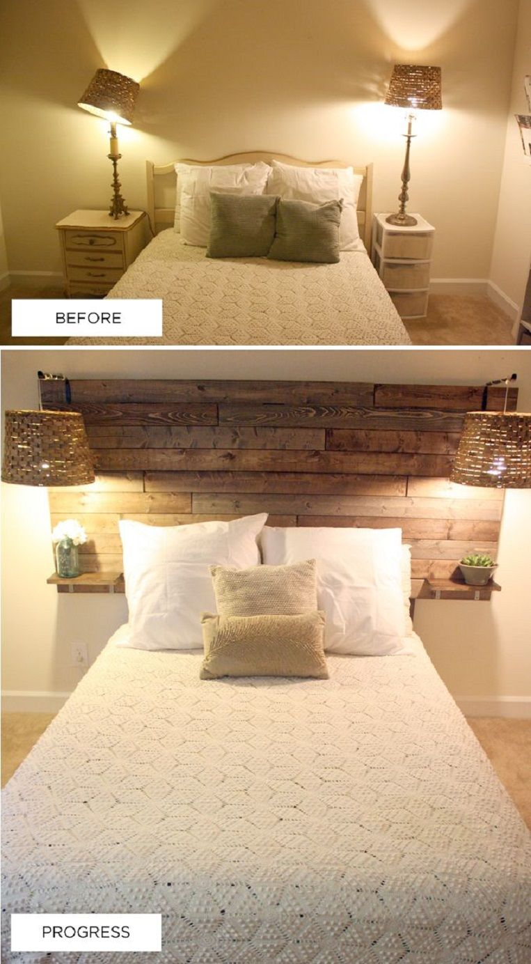 You can save money on a fancy tufted headboard by making your own ...