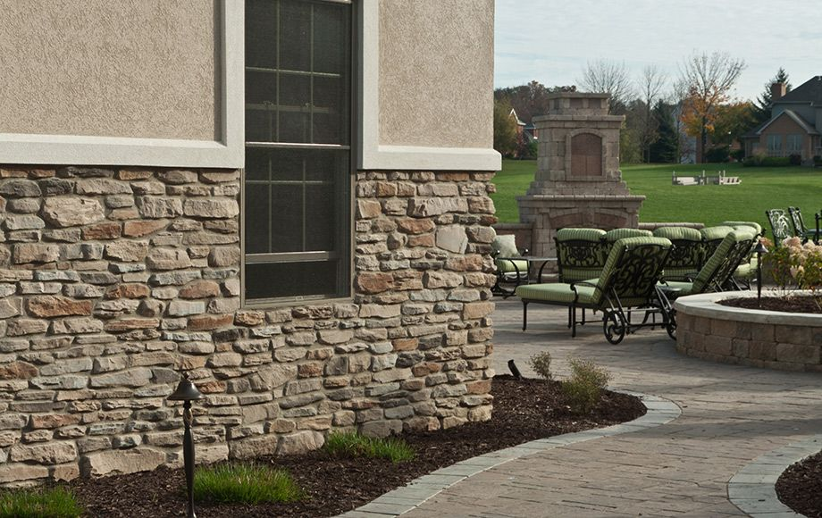 Natural blend ledgestone stone veneer interior stone for Exterior ledgestone