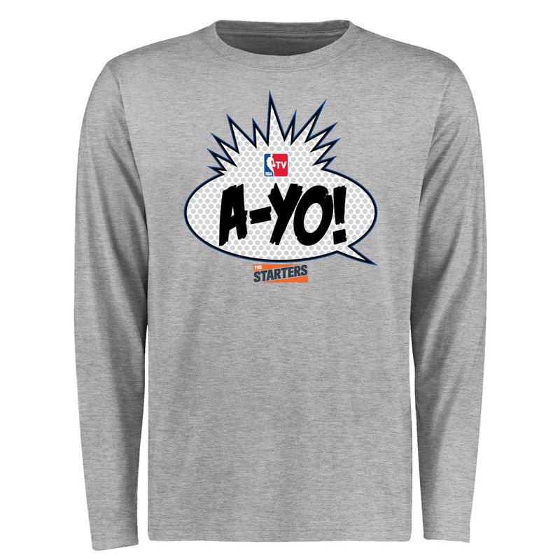 NBA The Starters AYO Longsleeve T-Shirt - Heather Gray