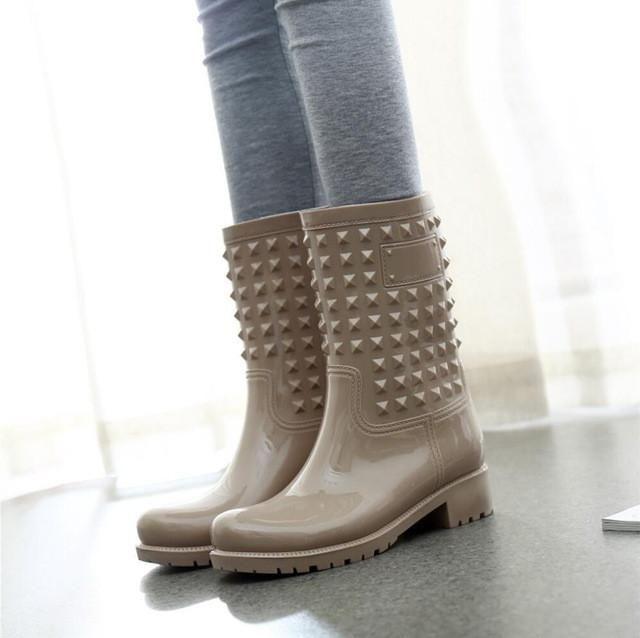 Just in: Rivets Rain Boots http://periwinklefashion.com/products/rivets-rain-boots-10?utm_campaign=crowdfire&utm_content=crowdfire&utm_medium=social&utm_source=pinterest