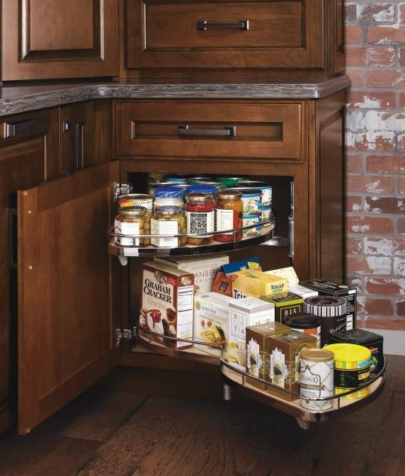 Maximize Odd Corners With A Base Corner With Curved Pullout Cabinet From  Diamond, Which Puts All Food Items Or Cooking Equipment At Your Fingertips.