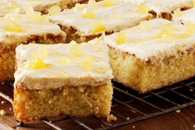 Honey, lemon and ginger traybake