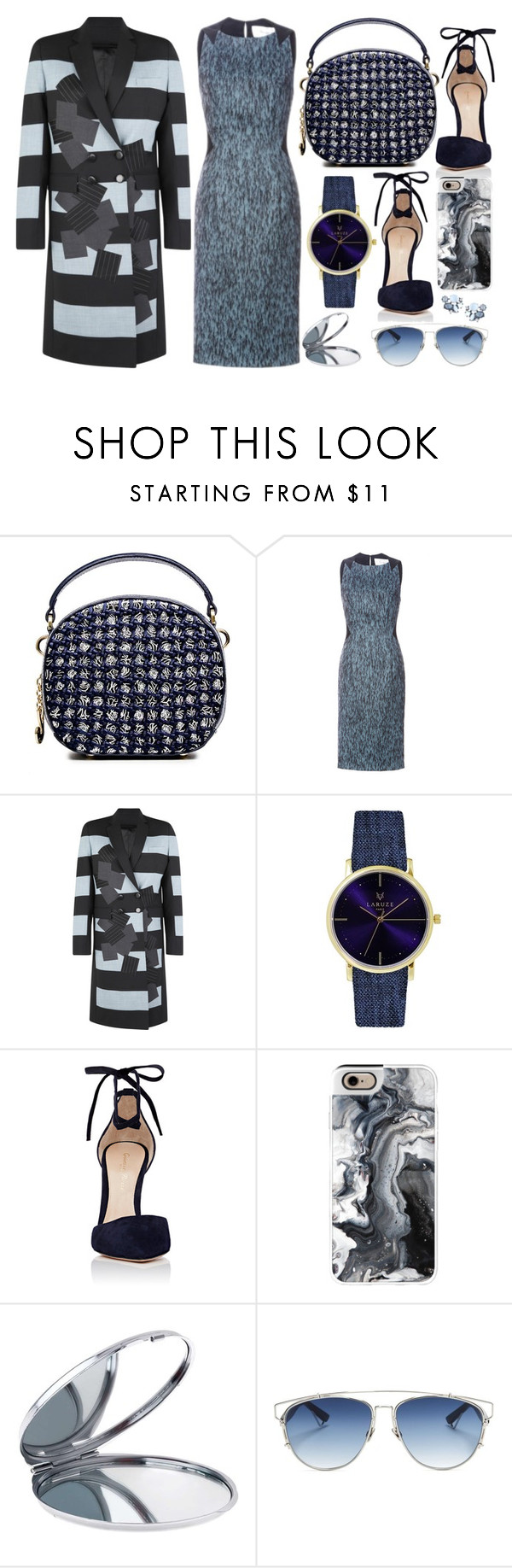 """Unconventional Gradient"" by cherieaustin on Polyvore featuring Carolina Herrera, Jonathan Saunders, Gianvito Rossi, Casetify, Miss Selfridge, Christian Dior and Lydell NYC"