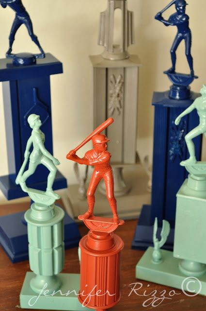 Old trophies get a new life with spray paint nursery for How to spray paint a room