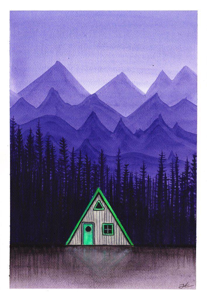 Cabin Life. Original signed illustration