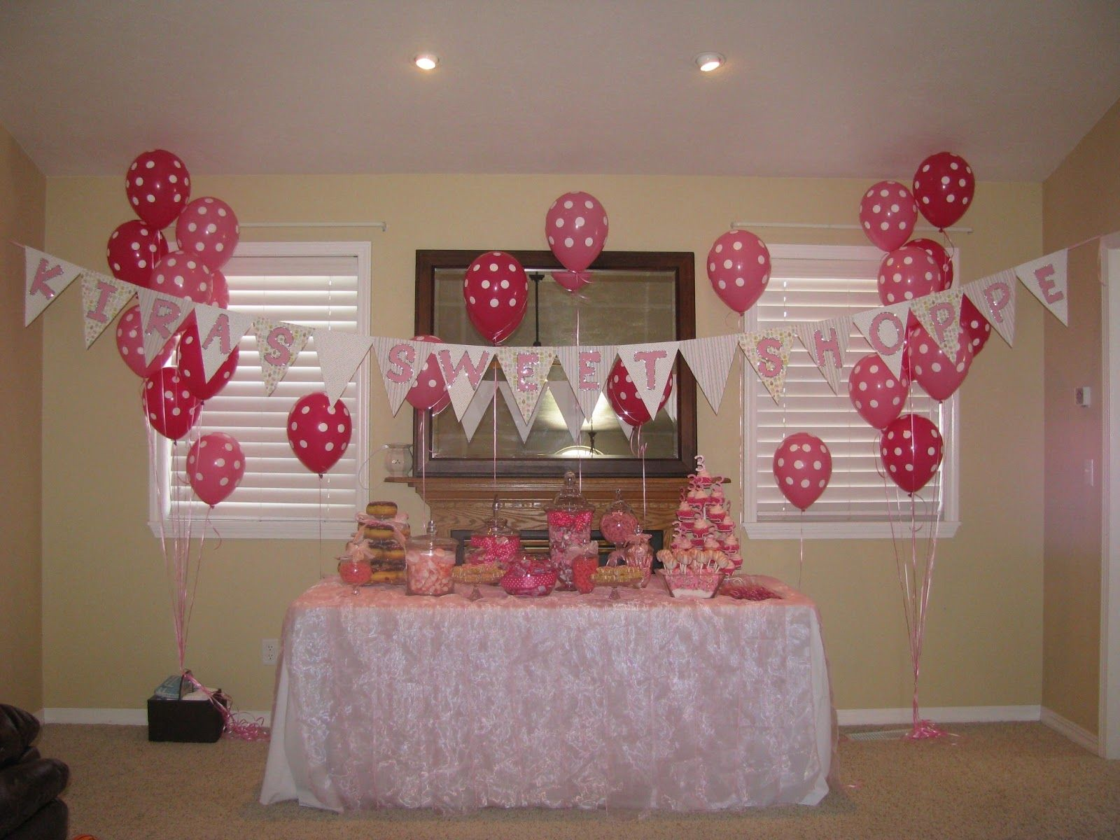 Chic Events by Tia  Pink Sweet Shop dessert table