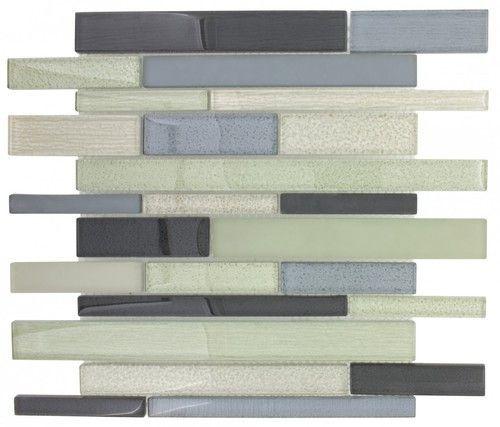Glass Backsplash Tile Winter Brick