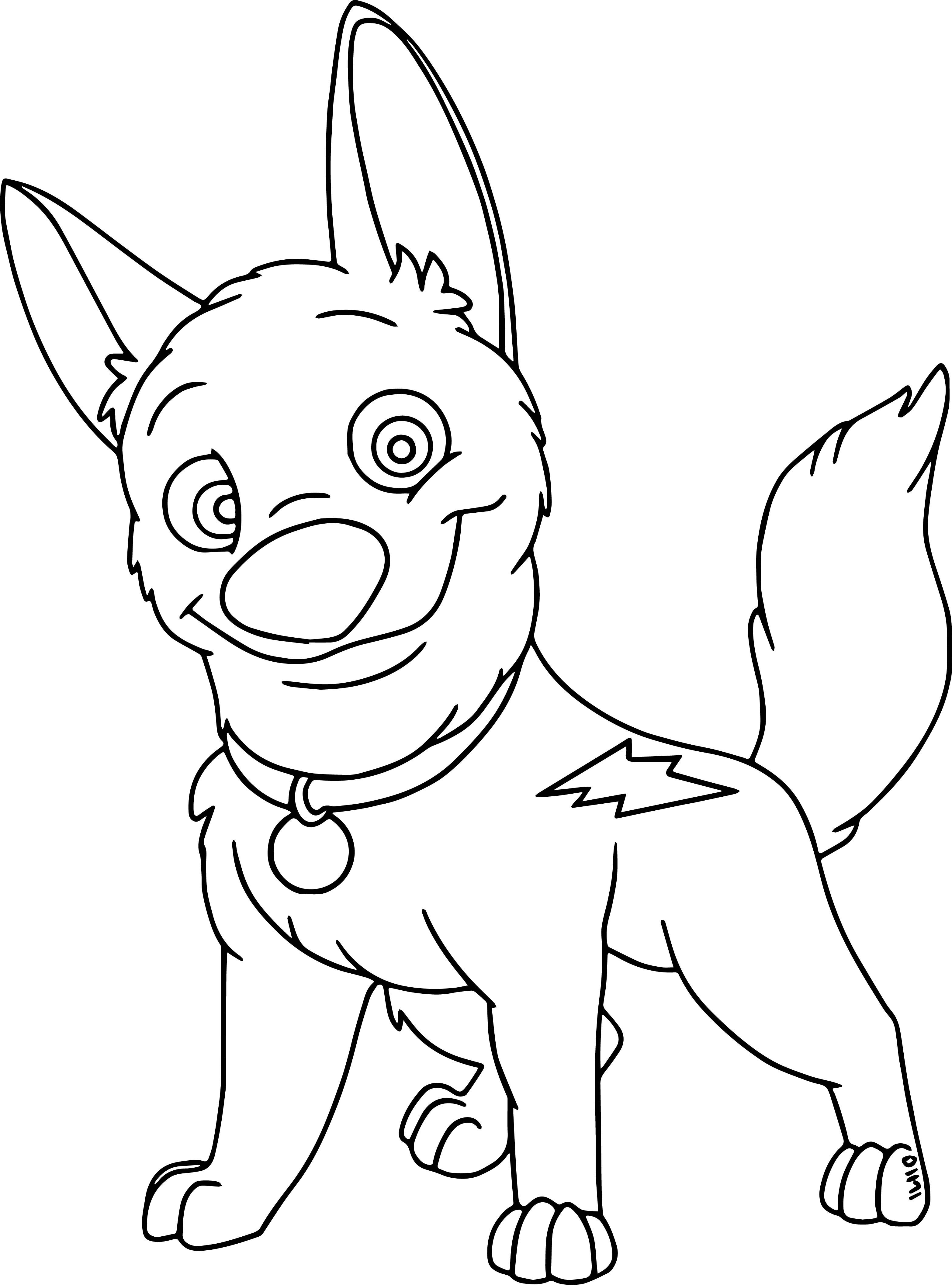cool Cute Bolt Dog Coloring Pages Dog coloring page