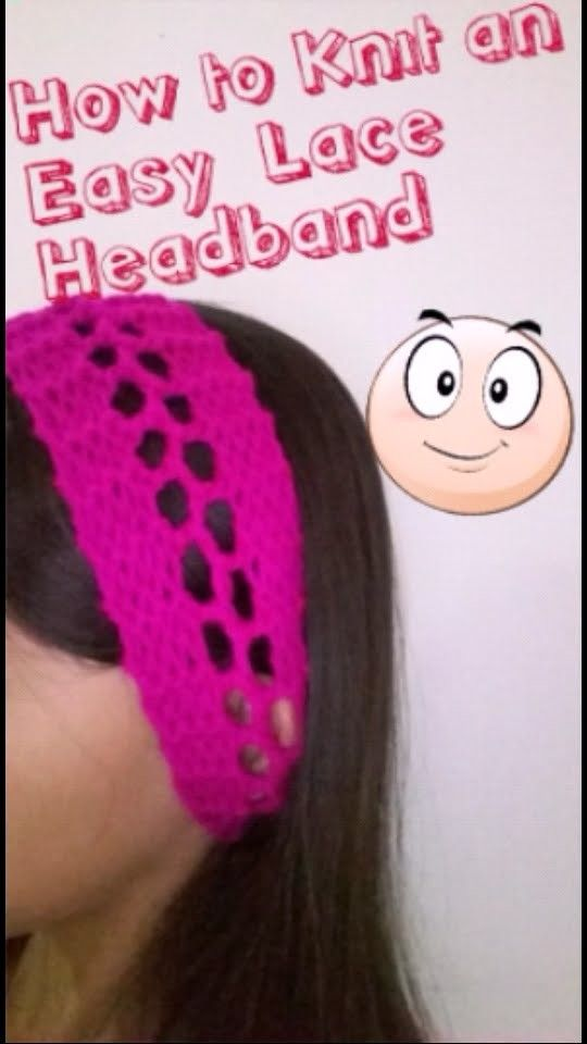 How to Knit an Easy Lace Headband