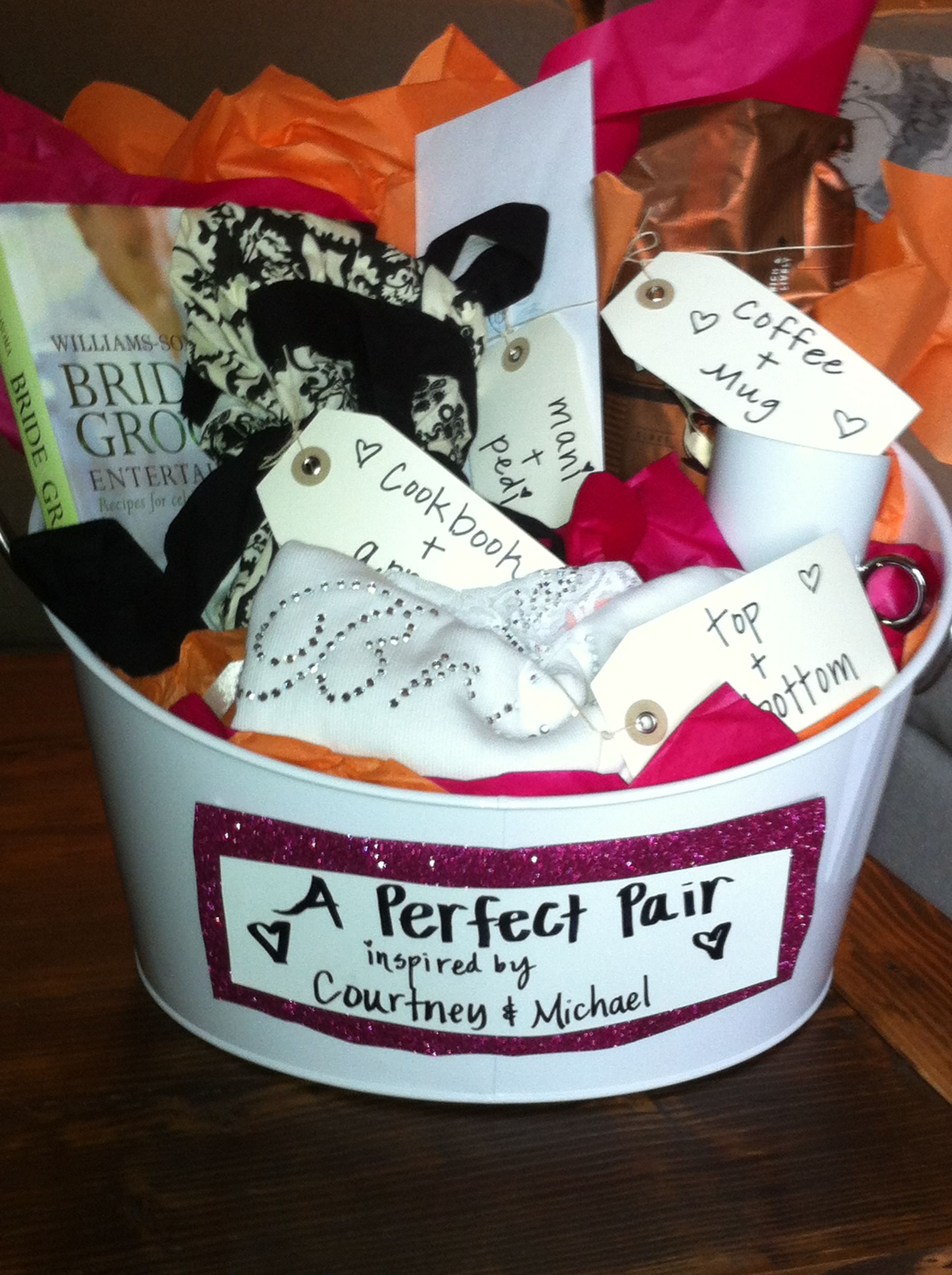 Bridal Shower Gift Perfect Pairs Basket All The Gifts