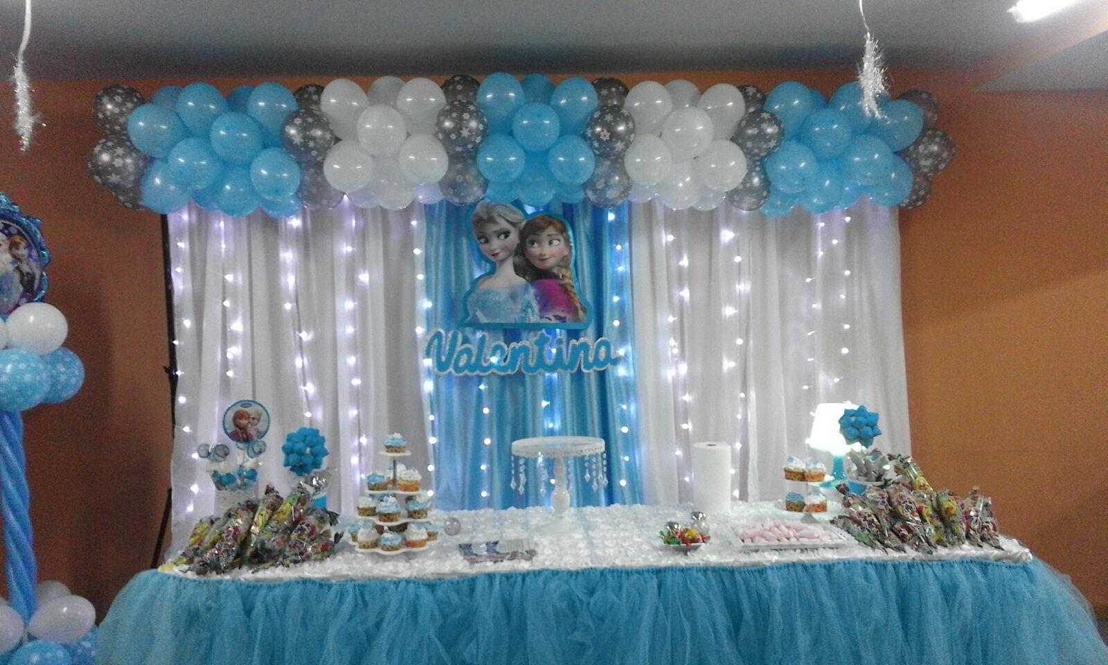 Decoraci n de fiestas de princesas disney elsa anna for Decoracion de princesas