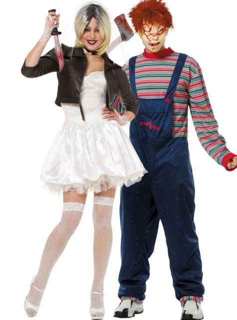 Chucky and Bride Couples Costumes , Horror Costumes , Couples Costumes ,  Couples, Group Costumes , Halloween Costumes , Categories , Party City  Canada
