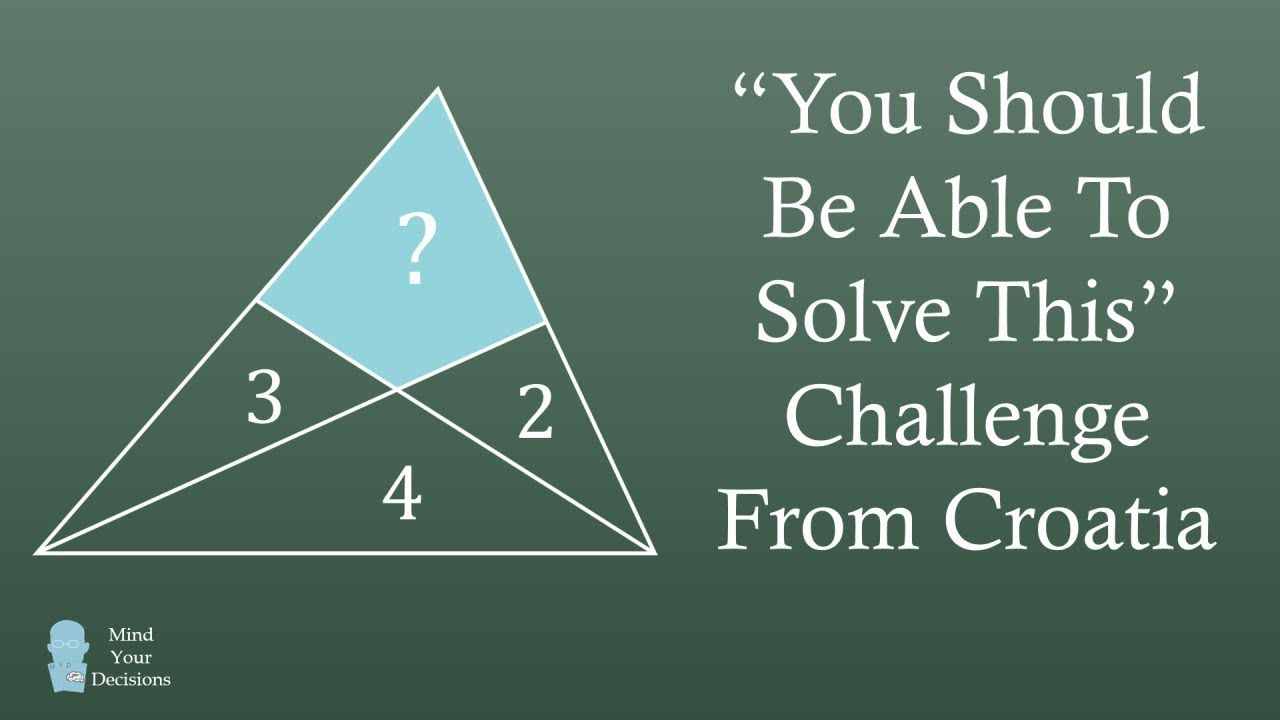 What Is The Area Challenge From Croatia Math Genius Mental Math Tricks Math Competition