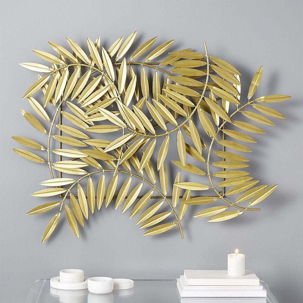 bdae296e07 CeresLeavesWallDecorGoldSHS17. CB2. CeresLeavesWallDecorGoldSHS17 Gold Wall  Decor, Modern Wall Decor, Wall Art Decor ...