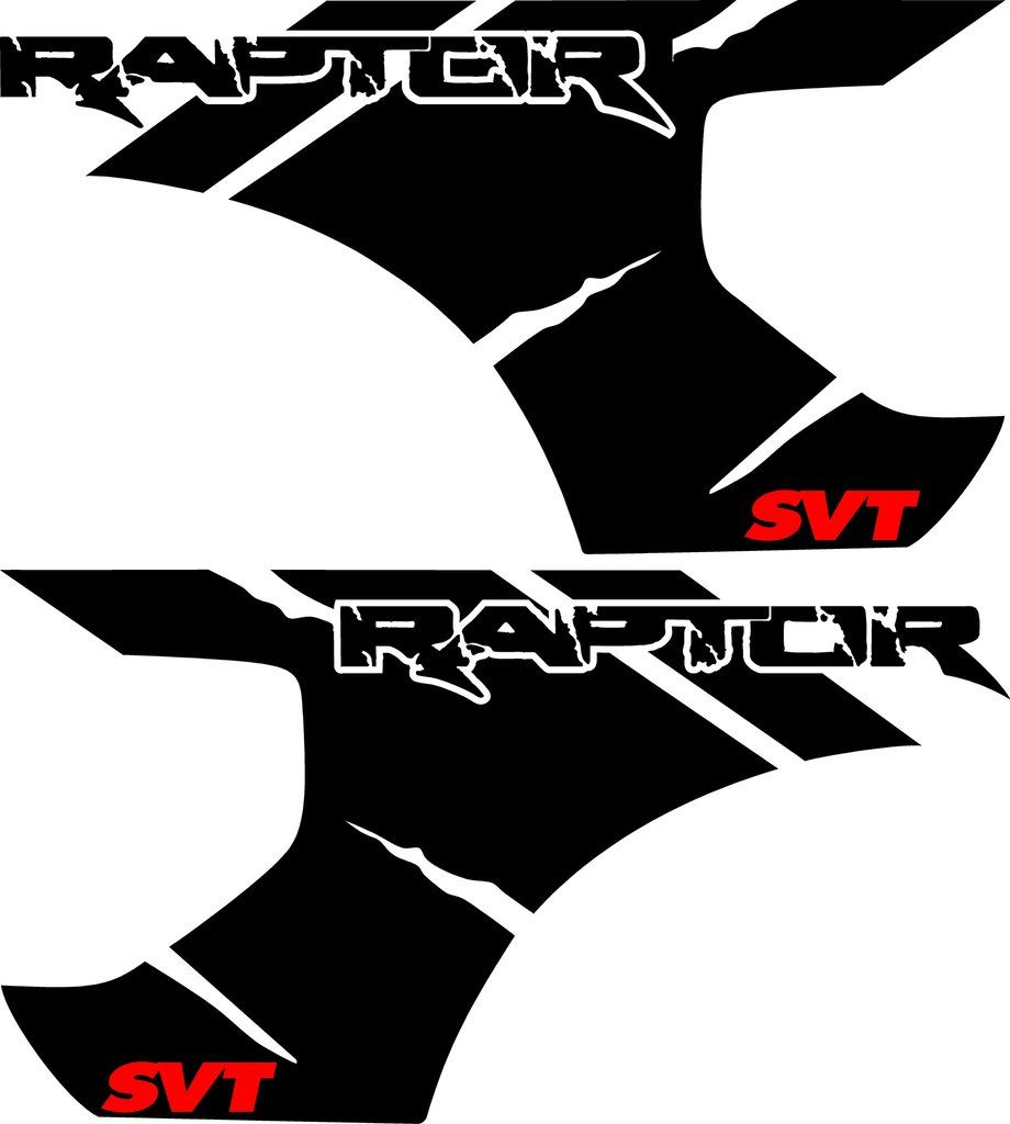 Ripped Factory Style Raptor SVT Bedside Graphics Truck