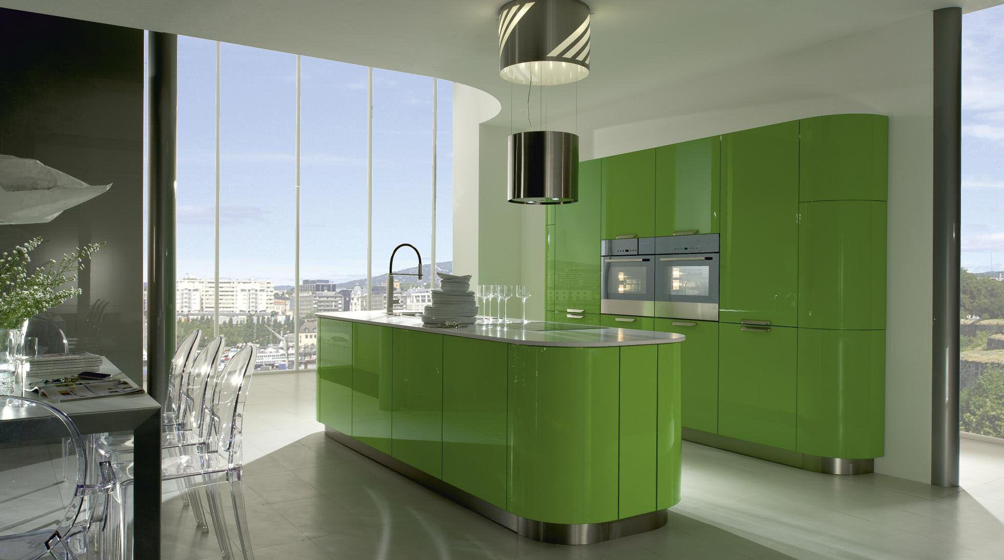 Küche in Grün #Kücheninsel von RWK www.dyk360-kuechen.de | Grüne ...