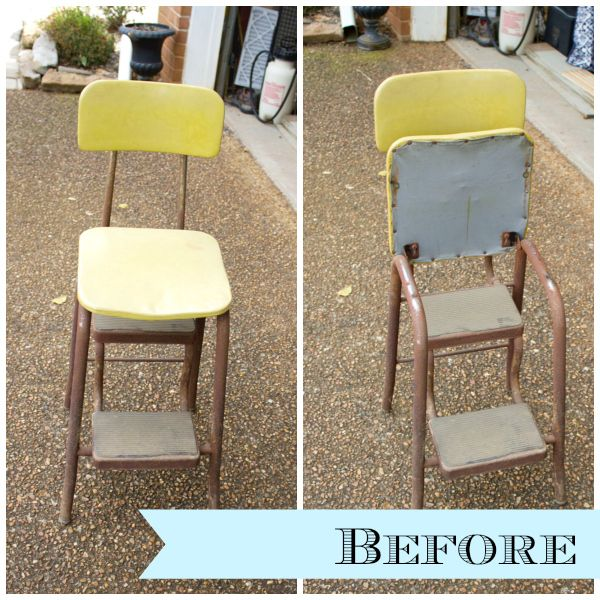 Curbside Vintage Step Stool Makeover Diy Quot To Do Quot Hints