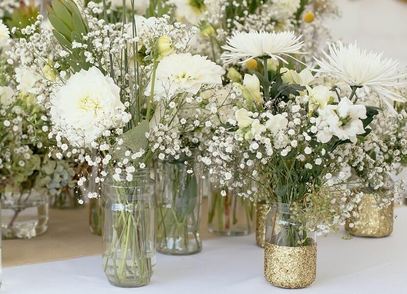 Hochzeitsdeko selber machen  5 einfache BlumendekoIdeen