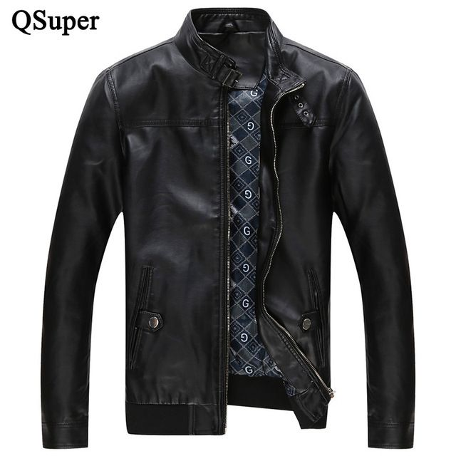 Promotion price QSuper New Summer PU Men Jackets Thin Style Slim Fit Zipper Design Fashion Punk Style Casual Outwear Luxury Brand Jacket just only $34.55 - 39.60 with free shipping worldwide  #jacketscoatsformen Plese click on picture to see our special price for you