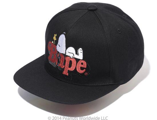 Snoopy On Bape Snapback Cap by BAPE x PEANUTS  1ec2b0eda66