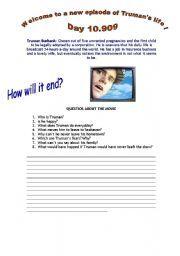 Esl Worksheet For Beginner The Truman Show Essay Questions Question Hsc