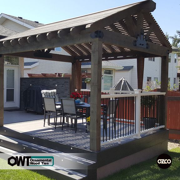 Pavilion Covered Deck Patio Area Constructed Using