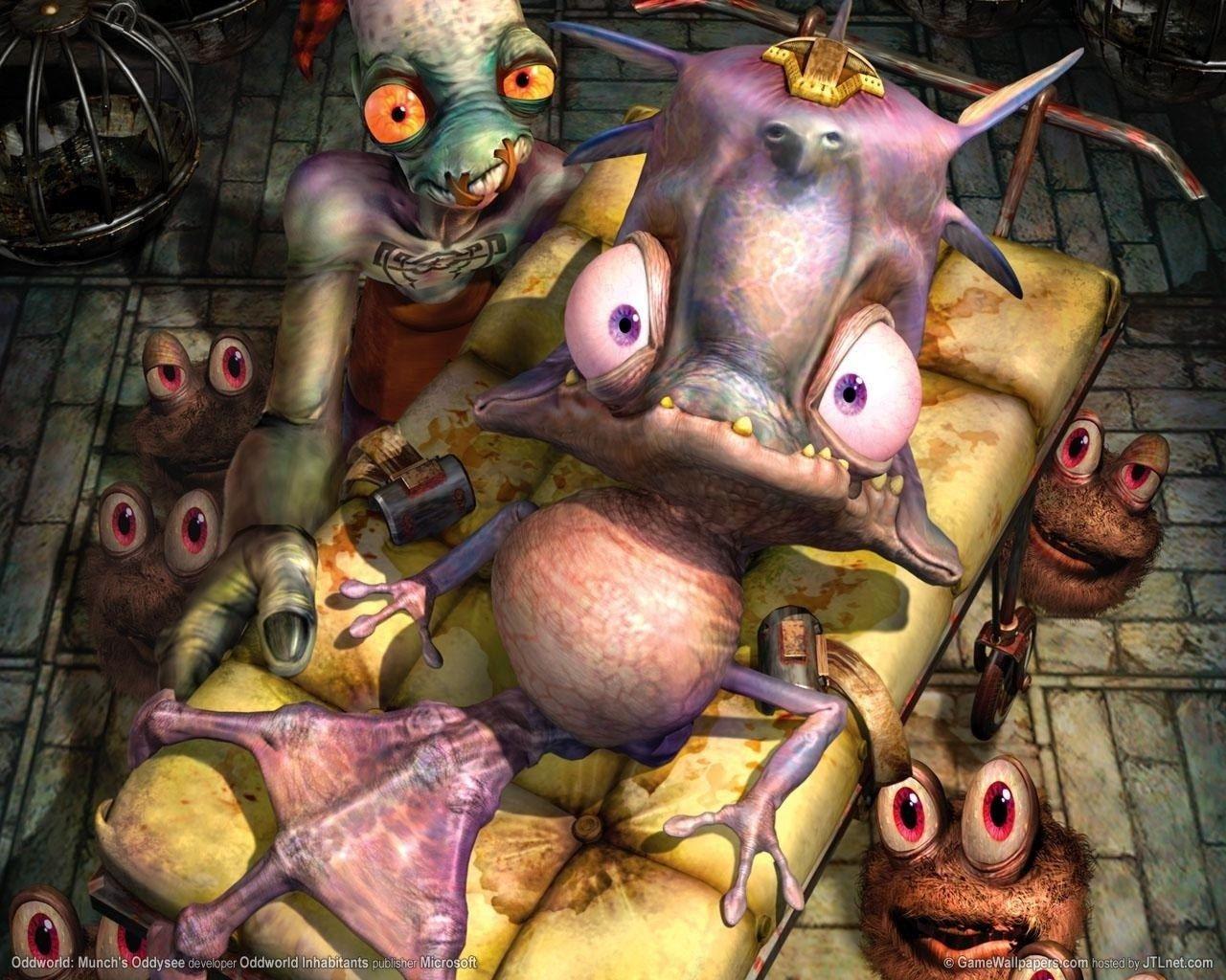 oddworld desktop nexus wallpaper | Art, Game art, Gaming posters