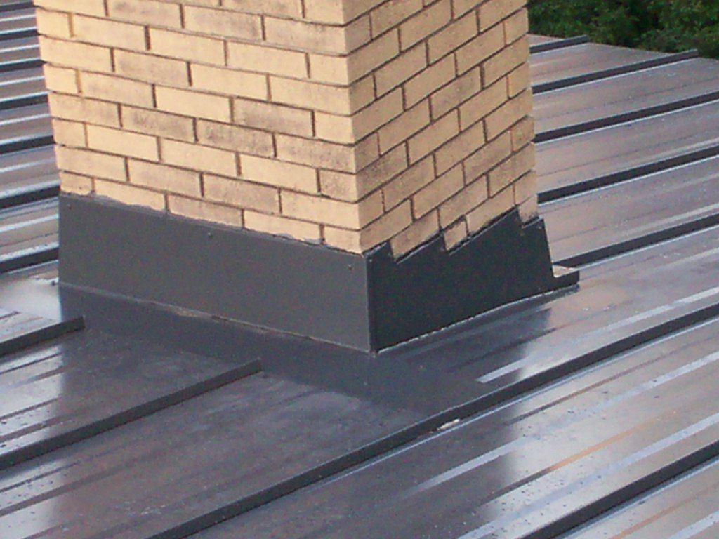 Steel Roof Metal Roof Chimney Flashing Mackey Metal
