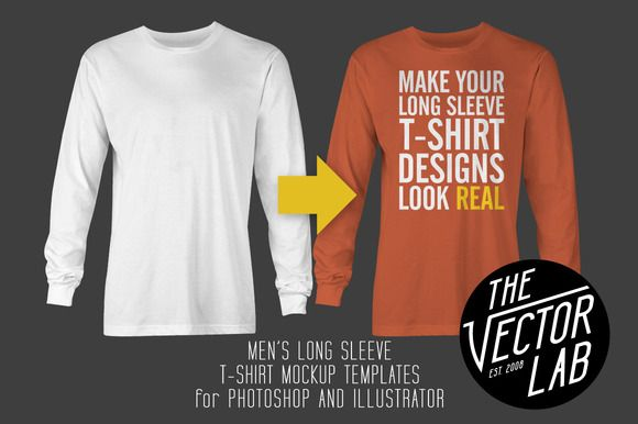 Long Sleeve T-Shirt Mockup Templates by TheVectorLab on Creative Market