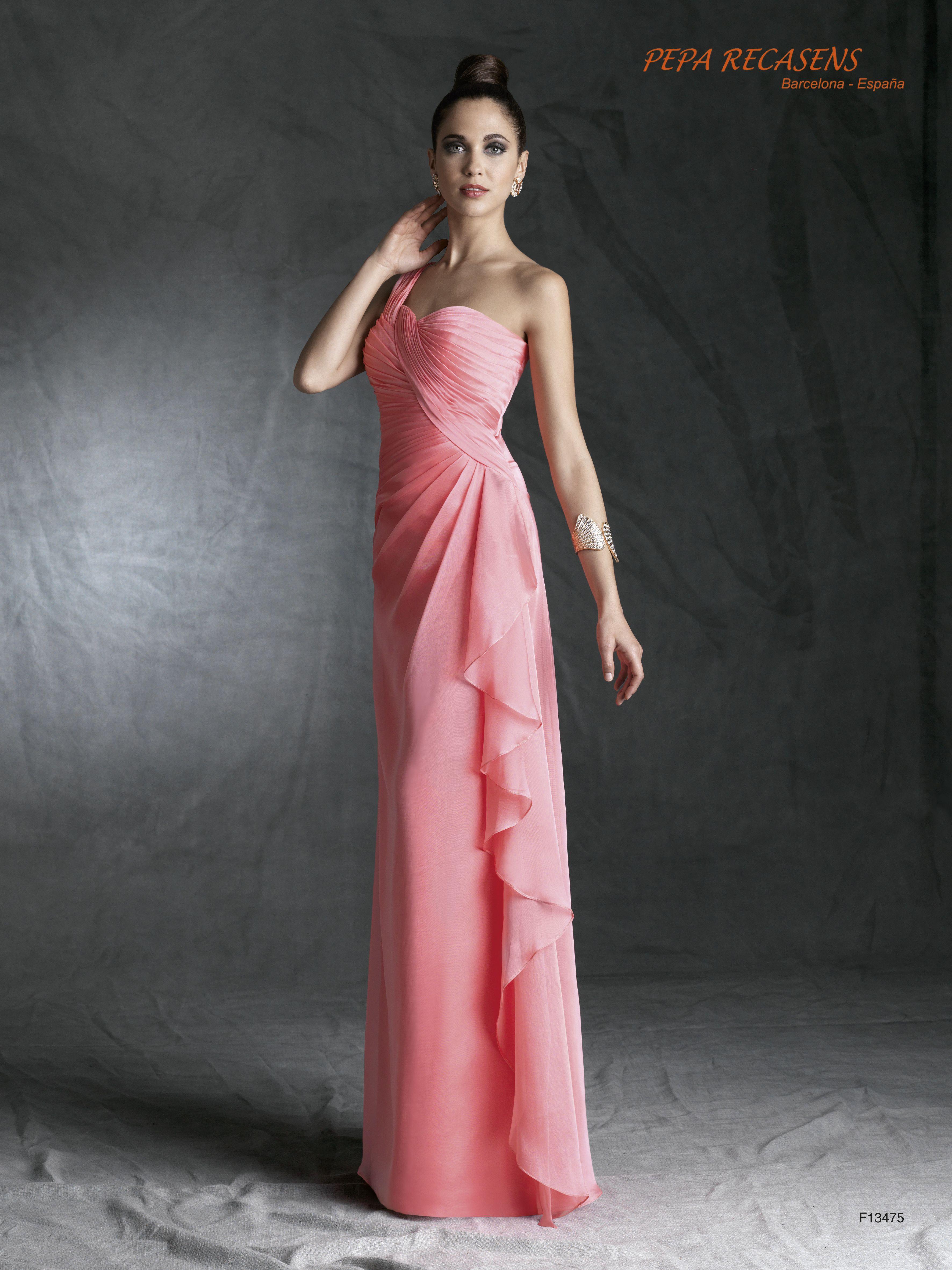 Vestidos de noche drapeados largos