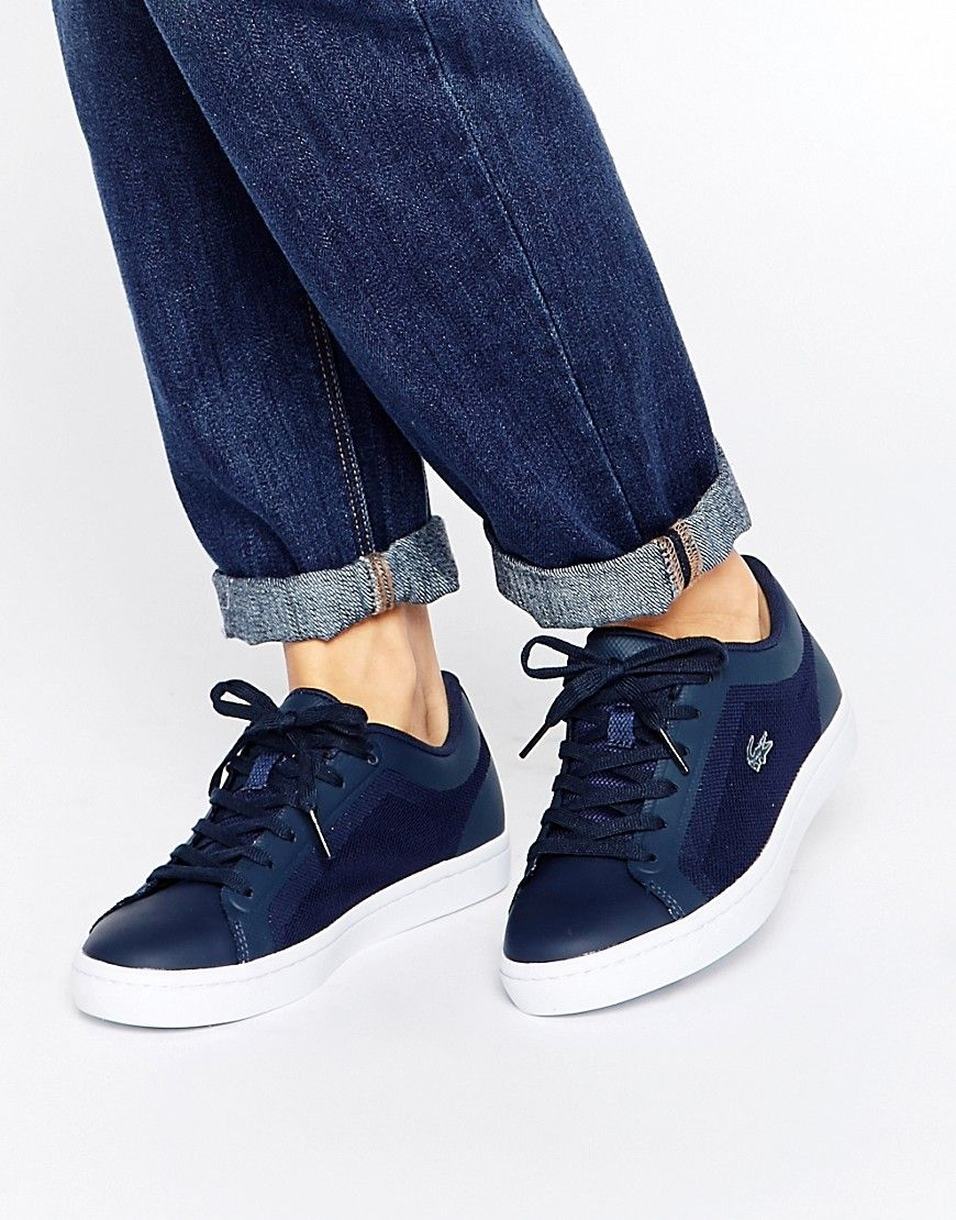 Image 1 of Lacoste Straightset 4 Navy Trainers