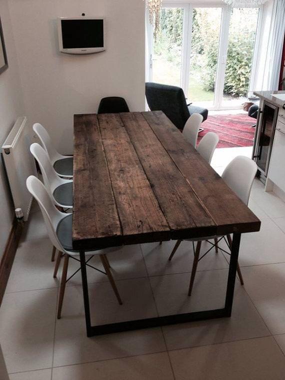 Tavolo da soggiorno stile rustico/vintage in legno ...