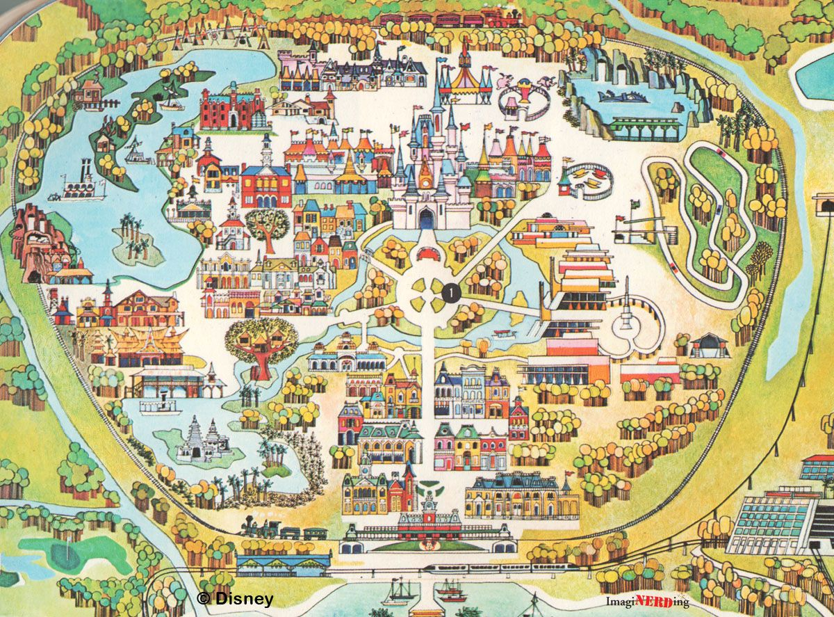 Disney World maps throughout the years | Disney | Disney world map on