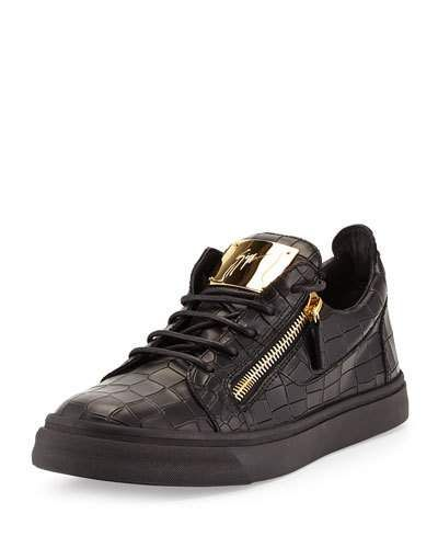 5594f29bc9908 Men's Croc-Embossed Low-Top Sneakers in 2019 | Products | Giuseppe ...