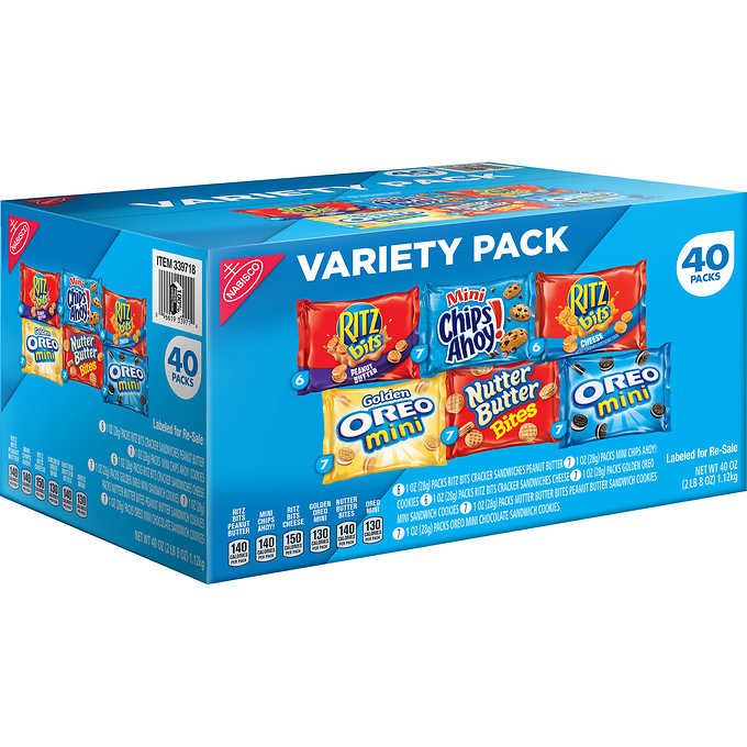 Nabisco Variety Snack Pack, 40-count $13 29 Costco | HOME