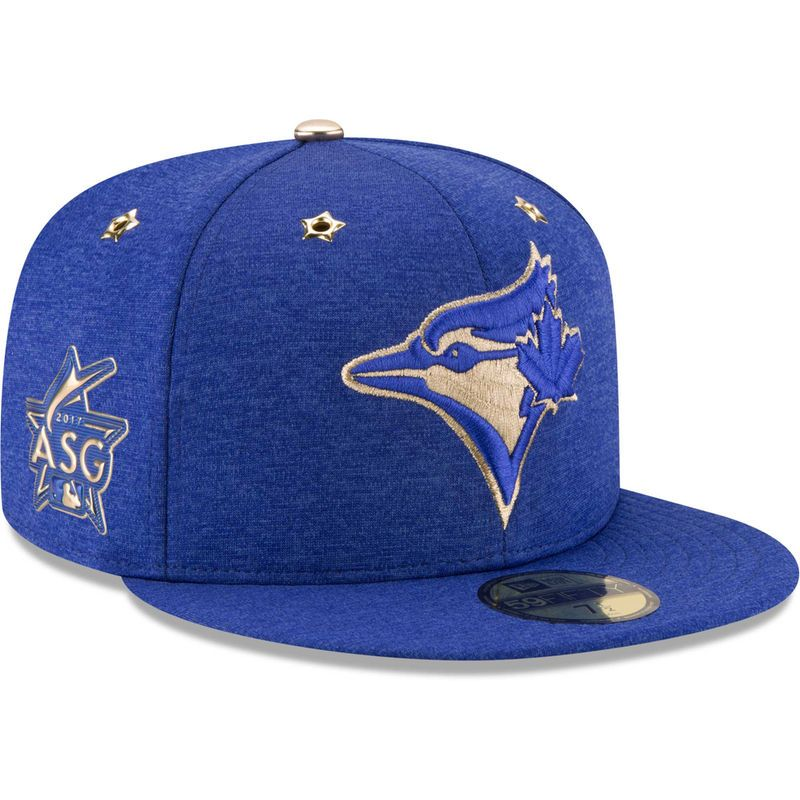 9507090a6eb848 Toronto Blue Jays New Era 2017 MLB All-Star Game Side Patch 59FIFTY Fitted  Hat - Heathered Royal
