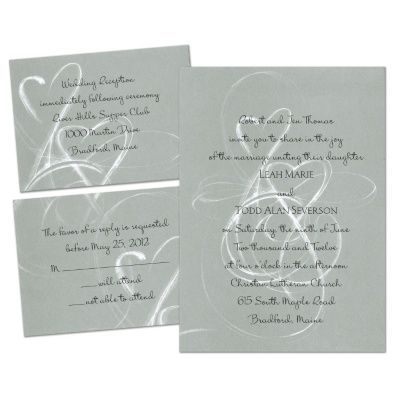 Silver Purity - Separate and Send Invitation | Ann's Bridal Bargains