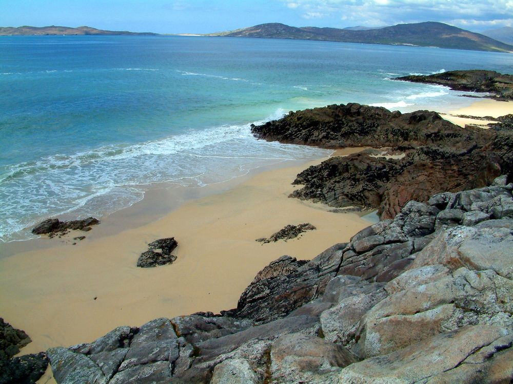 Beautiful Scottish beach - we do get blue waters you know!