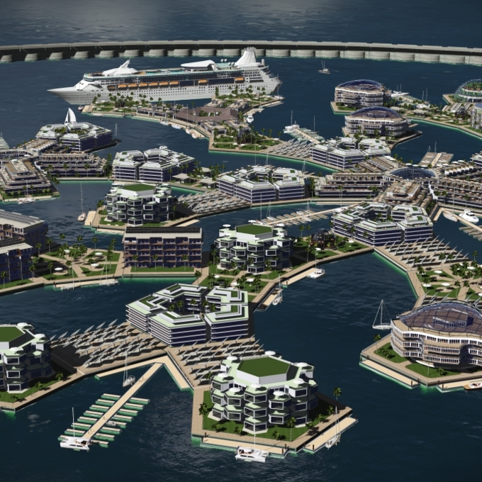 Funded by PayPal cofounder Peter Thiel, the Seasteading Institute is attempting to partner with coastal countries in order to use their shallow waters to build floating cities
