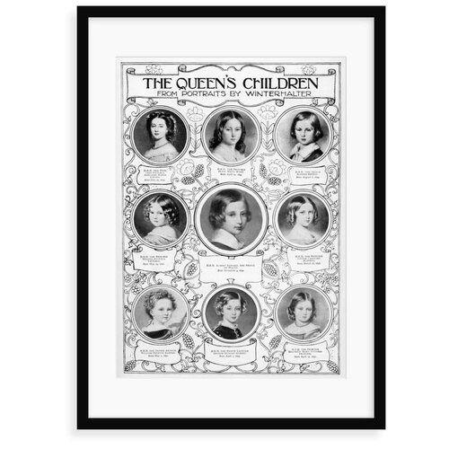Photo of Poster Queen Victoria's Children East Urban Home Format: Gerahmtes Papier, Größe: 100 cm H x 70 cm B x 2,3 cm T