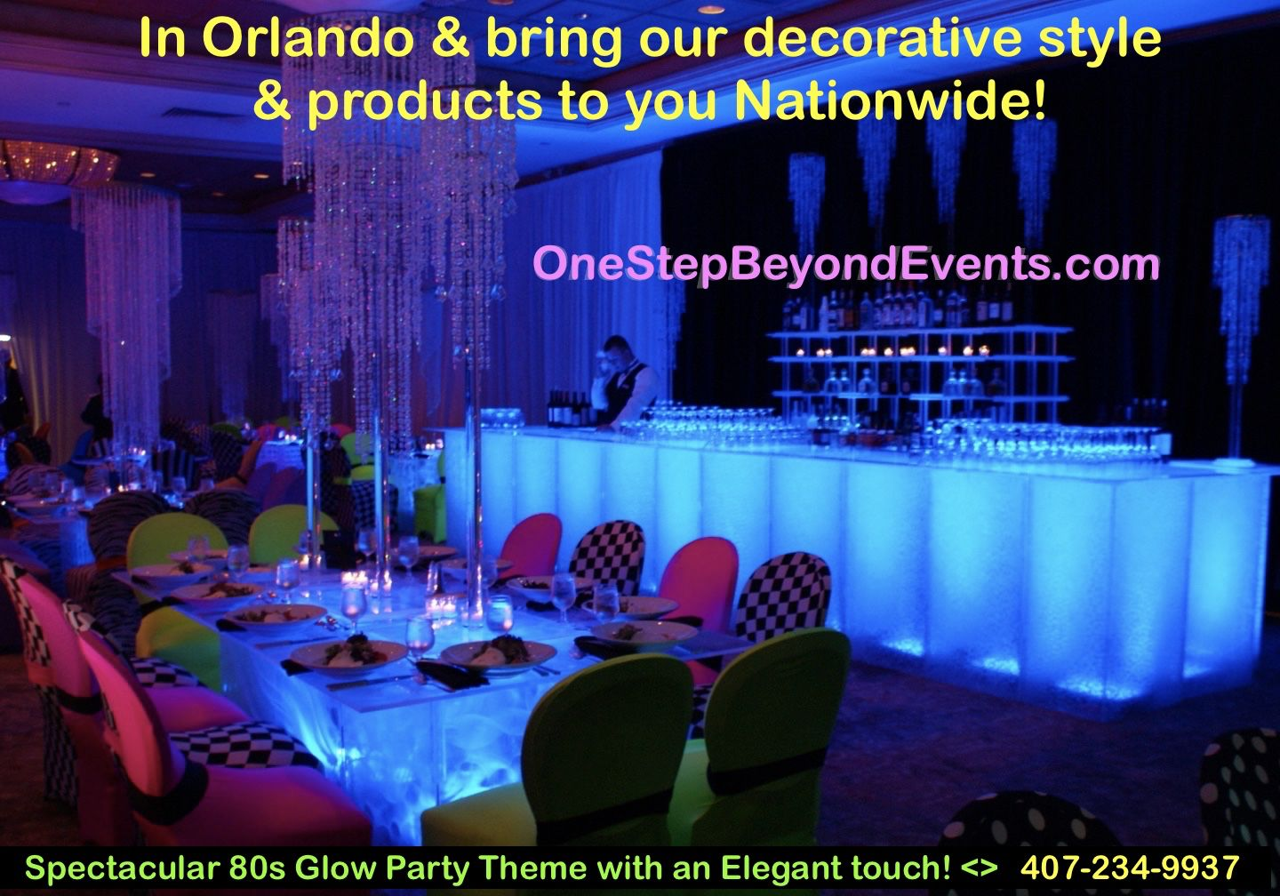 Miami Best Glow Party Rentals More In 2020 Glow Table Party Rentals Glow Party