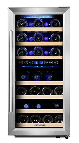 KRC 33BSS Kompressor Weinkühlschrank, 100 Liter,
