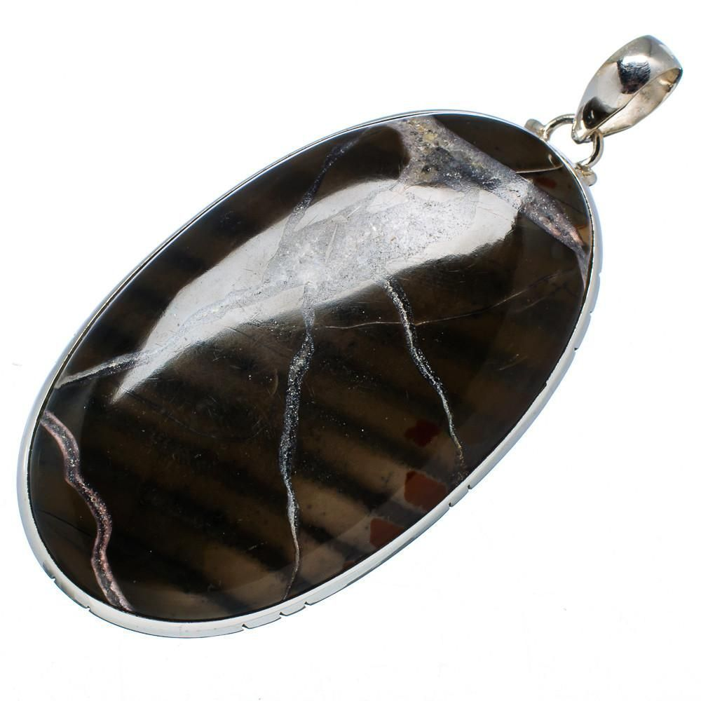 """Ana Silver Co Gigantic Rare Brecciated Jasper 925 Sterling Silver Pendant 3 1/4"""" PD540711"""