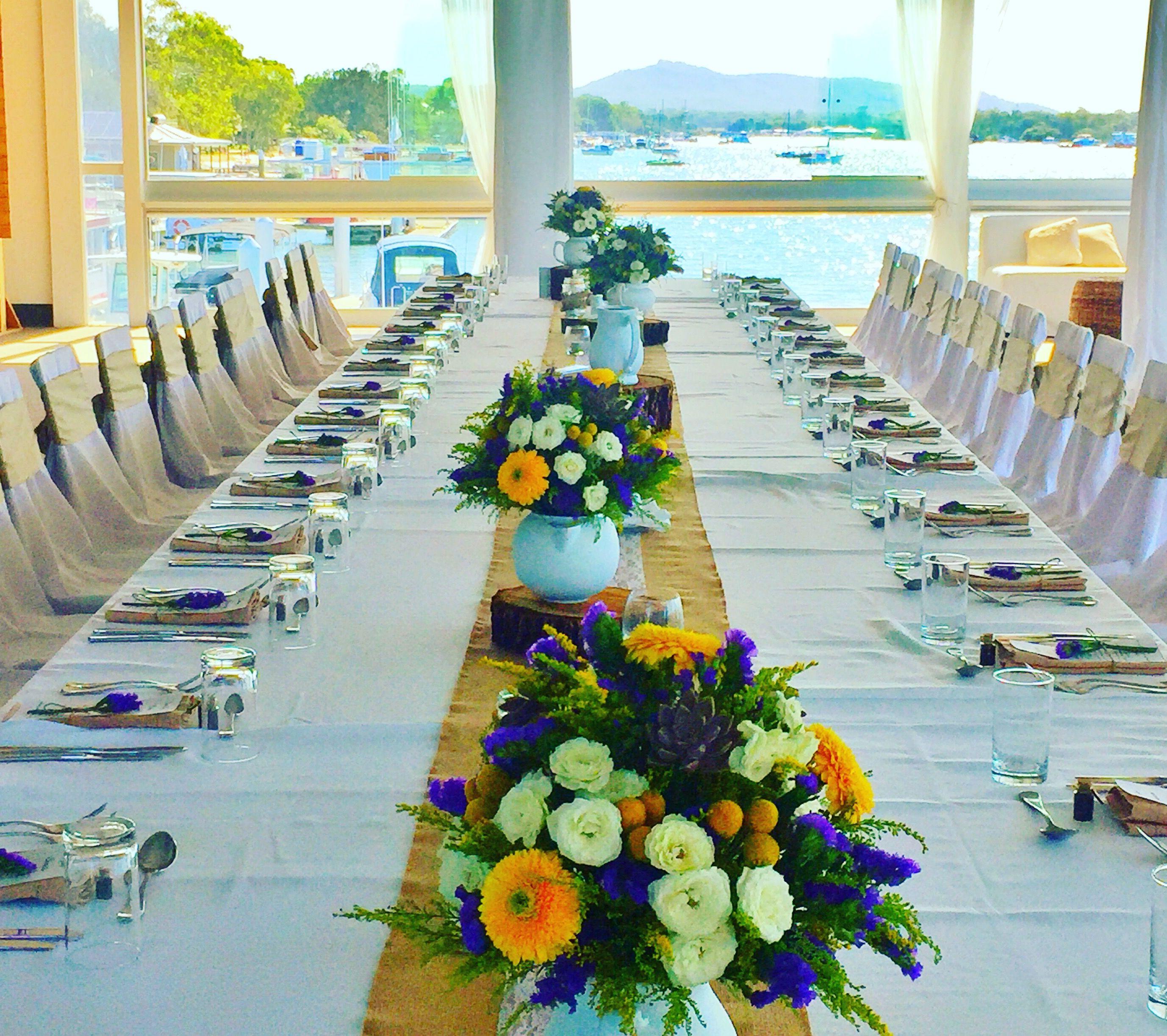 Noosa Weddings Venue Noosa Boathouse River Room Sit Down Reception