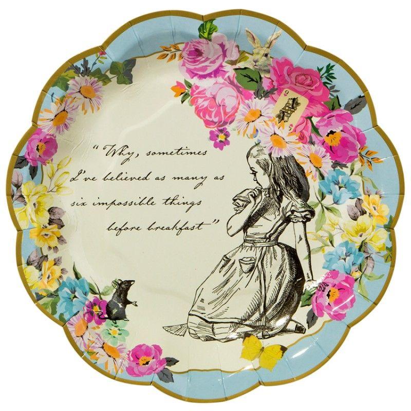 Alice in Wonderland Party Plates - Truly Alice  sc 1 st  Pinterest & Alice in Wonderland Party Plates - Truly Alice   Alice Birthday ...