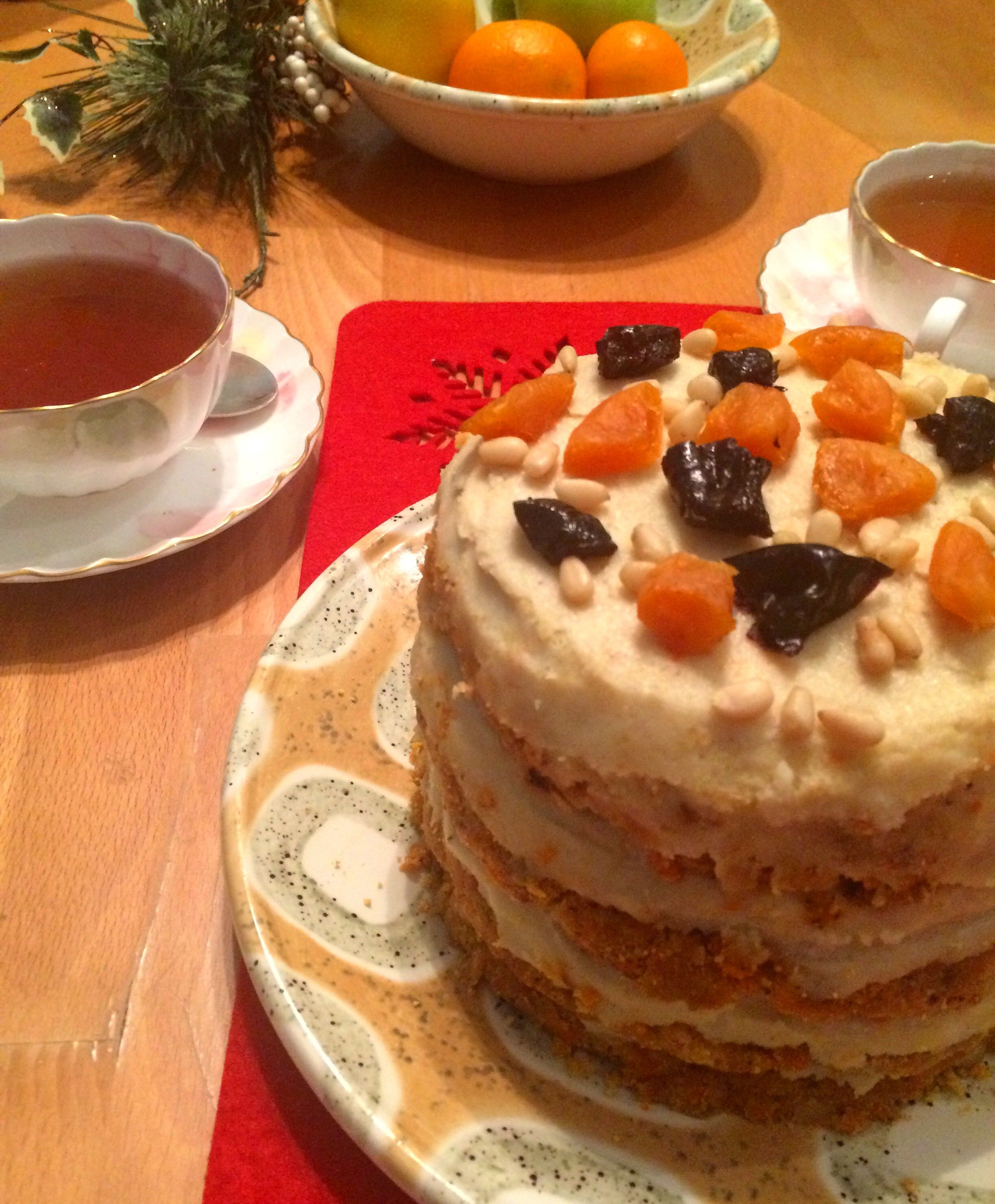 Raw Carrot cake. For Christmas.