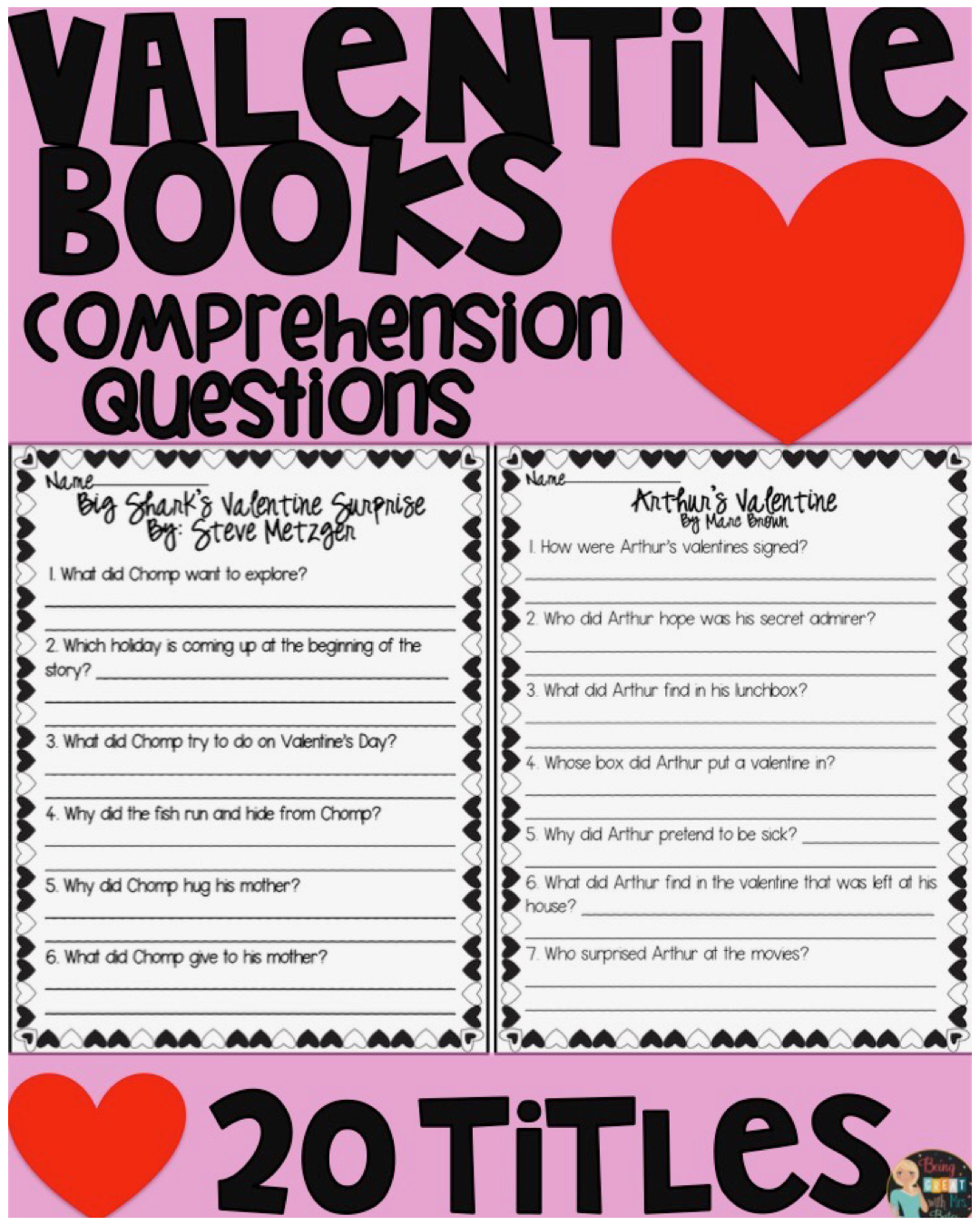 Valentine S Day Books Comprehension Questions