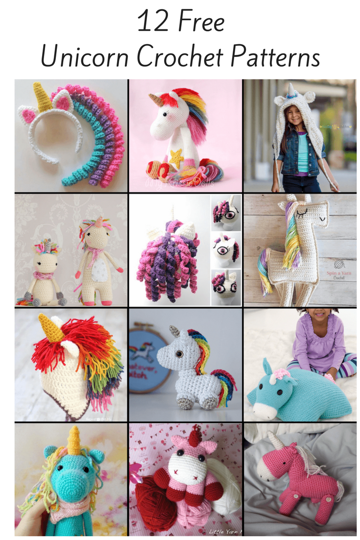 Free unicorn crochet patterns crochet pinterest unicorns from tiny amigurumi to large cuddly toys from pillow pets to headbands here are 12 of the best free unicorn patterns bankloansurffo Choice Image
