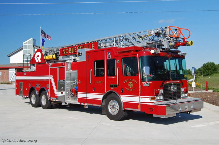 HME Fire Engine W/ Custom Rosenbauer Aerial Ladder 6x6