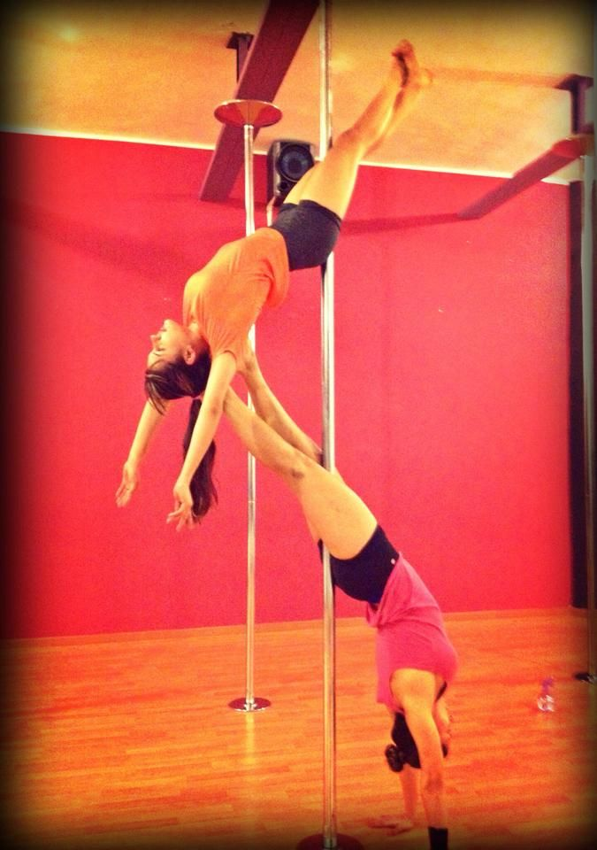 I Would Like To Try This With My Pole Doubles Partner On A Spin Pole Of Course As The Guy I Would Take The Bot Pole Dancing Fitness Dance Workout Pole